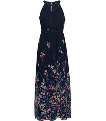 dresses light woven maxi dress galajurk blauw esprit collection