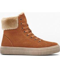 sneaker alte in pelle (marrone) - bpc selection