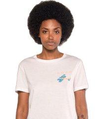 camiseta albedrío slim modo avión blanco
