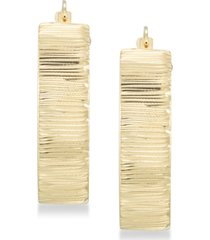 signature gold diamond accent textured hoop earrings in 14k gold over resin