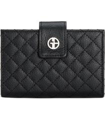 giani bernini quilted leather framed indexer wallet, created for macy's
