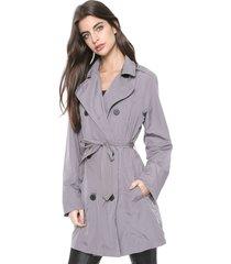 casaco trench coat ellus nylon wrinckle cinza