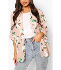 floral print kimono, blush