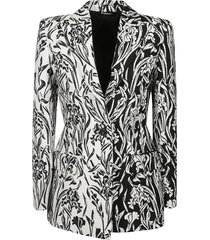 all-over printed blazer