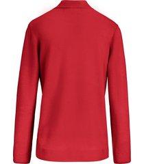 trui met staande kraag, model gudrun van peter hahn rood