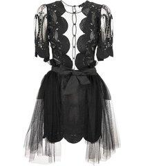 kanten jurk met korte mouwen