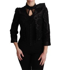 jacquard blazer zijden jasje