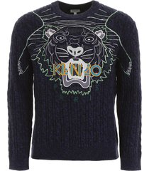 kenzo tiger embroidery pullover