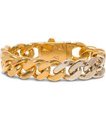 saint laurent chain bracelet in golden brass
