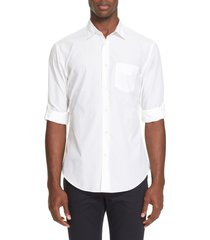 men's john varvatos slim fit sport shirt, size small - white
