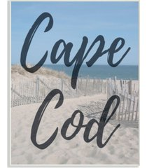 "stupell industries cape cod beach typography modern wall plaque art, 12.5"" x 18.5"""