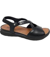 sandália usaflex aa couro tamanho especial feminina - feminino