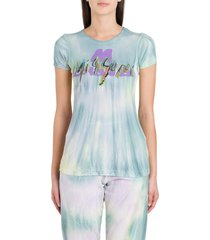 m missoni tie-dye tee with emboridered and printed logo