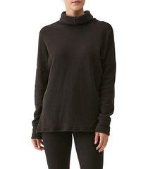 michael stars meadow reversible turtleneck sweatshirt, size small in black at nordstrom