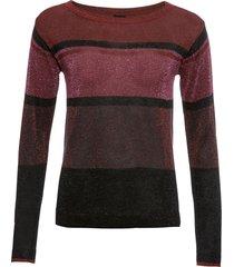 maglione a righe con lurex (rosso) - bodyflirt