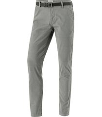aop chinos w. belt, slim fit