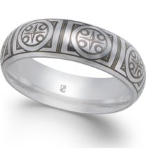 men's compass design cobalt ring