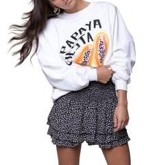colourful rebel sweater dropped shoulder payaya fiesta offwhite
