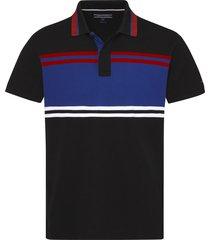 chomba negra tommy hilfiger abstract stripe polo