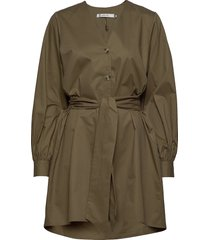 alvagz v-long shirt ms20 korte jurk groen gestuz
