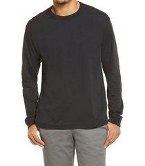 bp. long sleeve crewneck t-shirt, size xx-large - black
