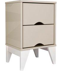 mesa de cabeceira 2 gavetas twister off white/branco tcil mã³veis - branco - dafiti