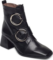 h-4306 shoes boots ankle boots ankle boot - heel svart wonders