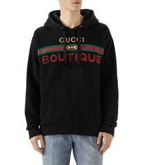 men's gucci boutique graphic cotton hoodie