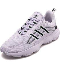 tenis lifestyle lila-negro adidas originals haiwee w
