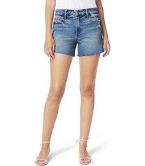 women's joe's the ozzie distressed cutoff denim shorts, size 24 - blue