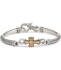 women's konstantino hermione silver & gold bracelet
