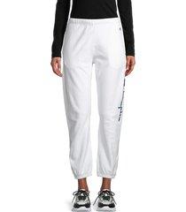 champion women's reverse weave cotton-blend jogger pants - white - size xl