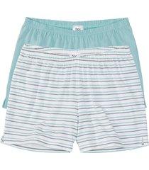 pantaloni pigiama corti (pacco da 2) (blu) - bpc bonprix collection