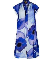 blue flower caroline dress