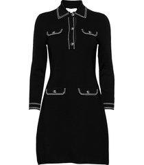 contrs stitch button drs dresses cocktail dresses svart michael kors