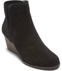 rockport women's hollis v-cut wedge booties women's shoes