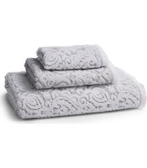 kassatex dalia hand towel, size one size - grey