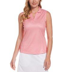 pga tour women's gingham-print collared golf shirt