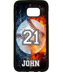 personalized name number baseball phone case for samsung galaxy s7 s6 note 7 5 4