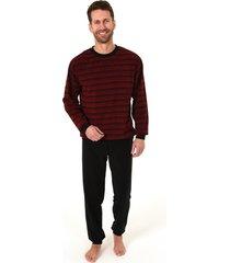 heren pyjama badstof 63689-52-zwart