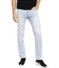 jeans ellus tiro medio slim celeste - calce slim fit