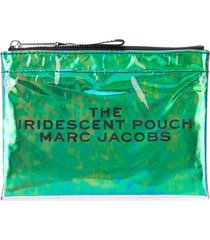 marc jacobs flat pouch - green