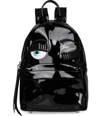 chiara ferragni flirting vinyl backpack