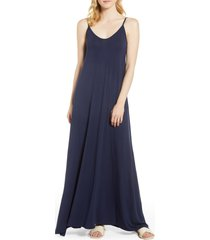 women's loveappella maxi dress, size large - blue