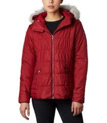 columbia women's sparks lake hooded faux-fur-trim coat