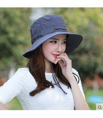 damas de verano al aire libre montañismo plegable sunhat sombreros y gorra
