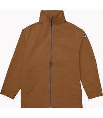 tommy hilfiger men's essential rain jacket brown - xxxl