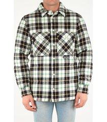 marcelo burlon padded checked shirt