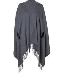 poncho le lis blanc fatima tricot cinza feminino (chumbo, un)