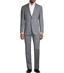academy regular-fit plaid wool suit